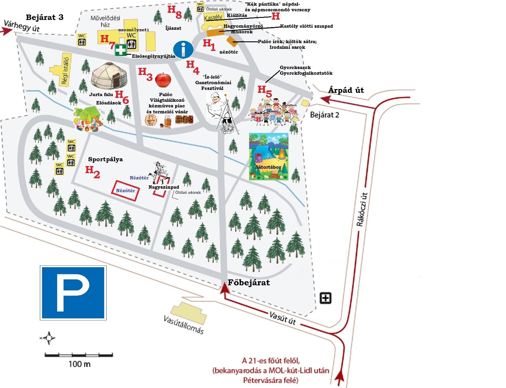 Gyürky-Solymossy Kastély térkép (üres)